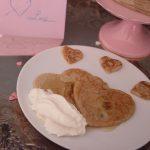 Tortitas de plátano para San Valentín