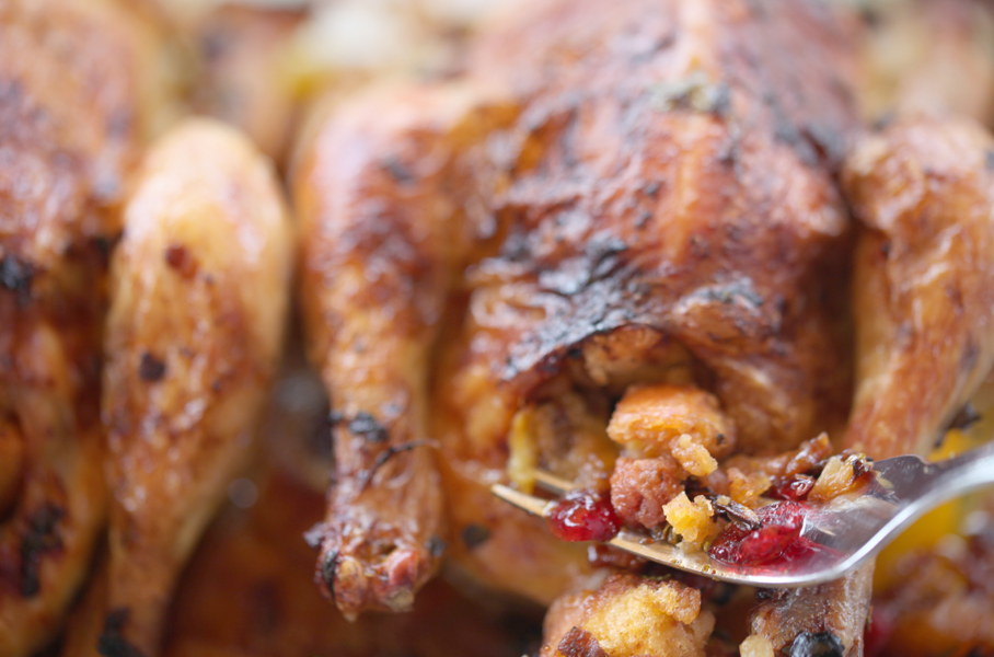 pollos picantones rellenos