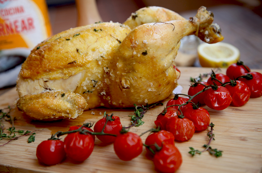 Pollo a la sal