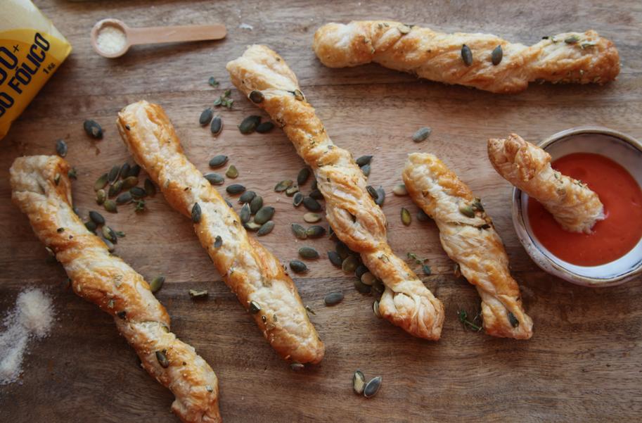 espirales saladitos con pipas de calabaza