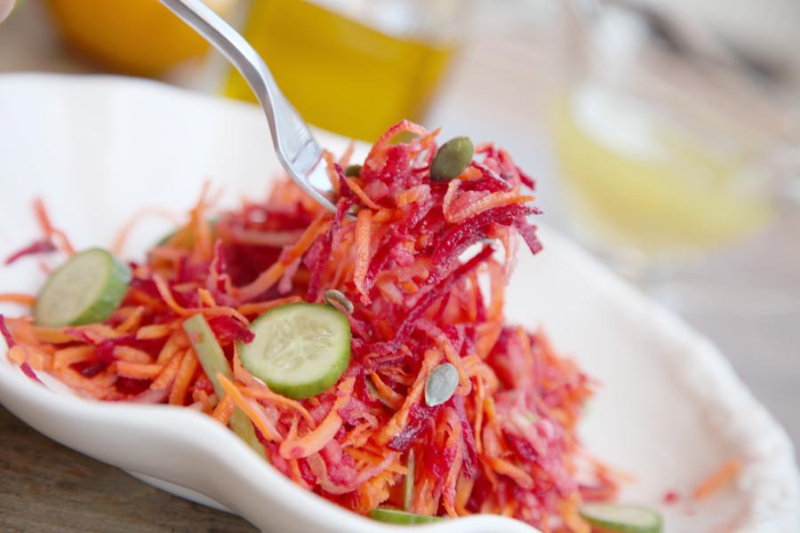 Ensalada de zanahoria con vinagreta de cítricos
