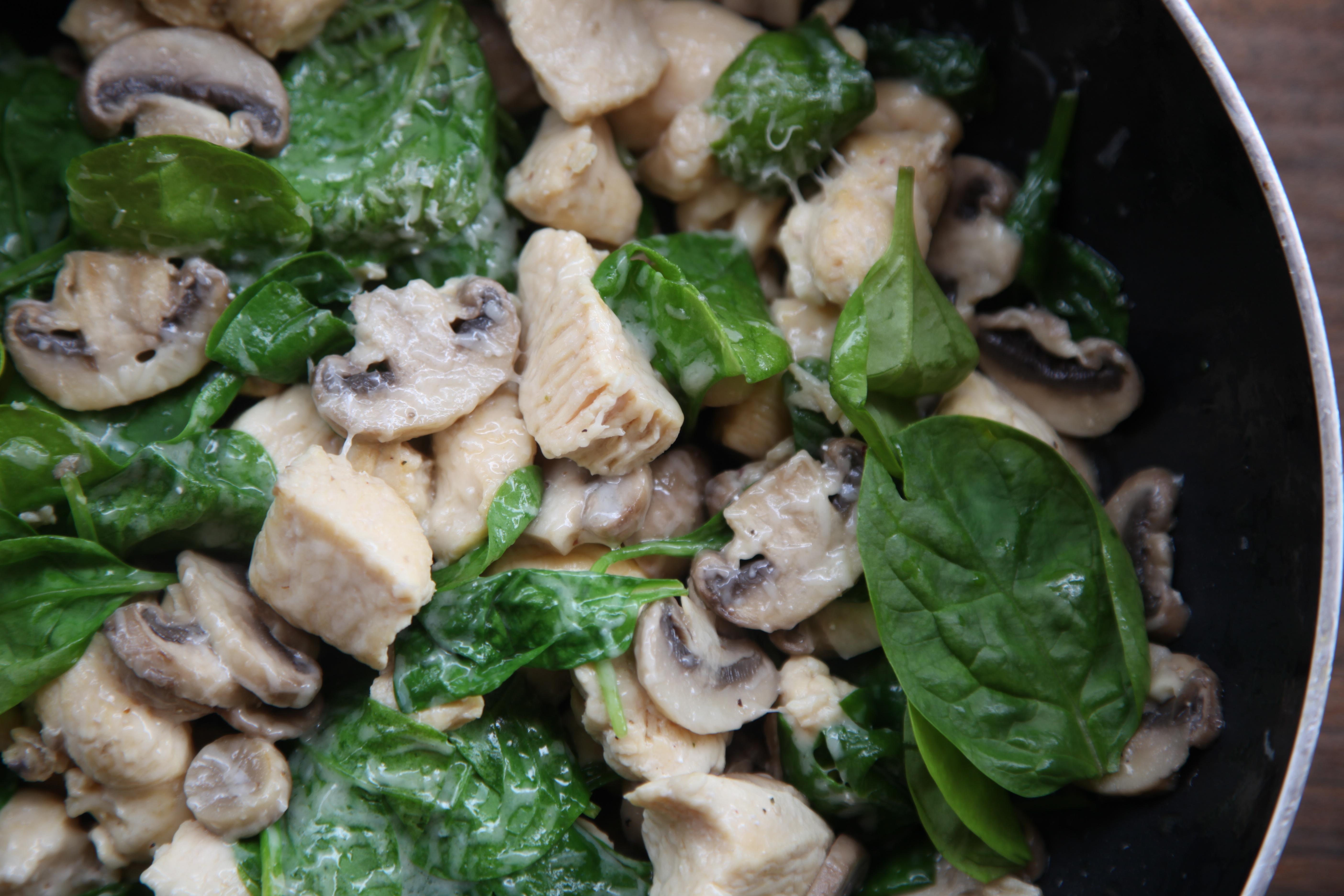 tacos de pavo con champiñón