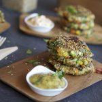 Hamburguesas veganas con harina de lentejas