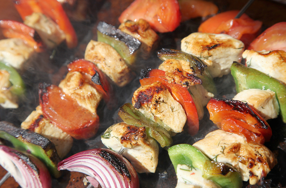 shashlik de pollo
