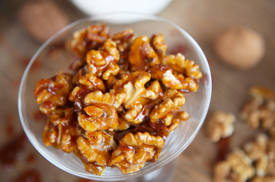 Nueces caramelizadas